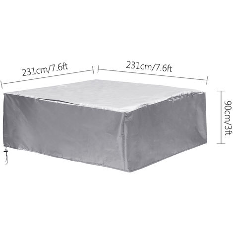 Jacuzzi SPA Outdoor Bathtub Cover Dust cover 231x231x90cm