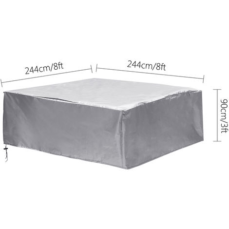 Jacuzzi SPA Outdoor Bathtub Cover Dust cover 244x244x90cm