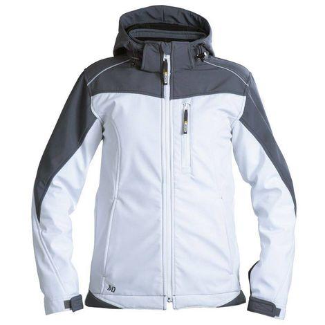 JAKARTA veste softshell femme Blanc/ gris - T. XL - Dassy