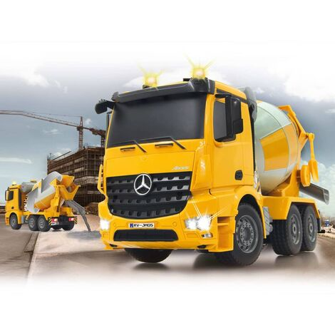 "main image of ""Jamara RC Concrete Mixer Mercedes-Benz Arocs 1:20 Yellow - Yellow"""