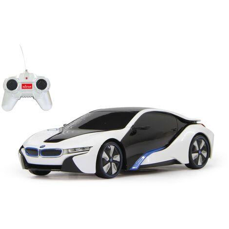 "main image of ""Jamara Voiture télécommandée BMW I8 27 Mhz 1:24 Blanc"""