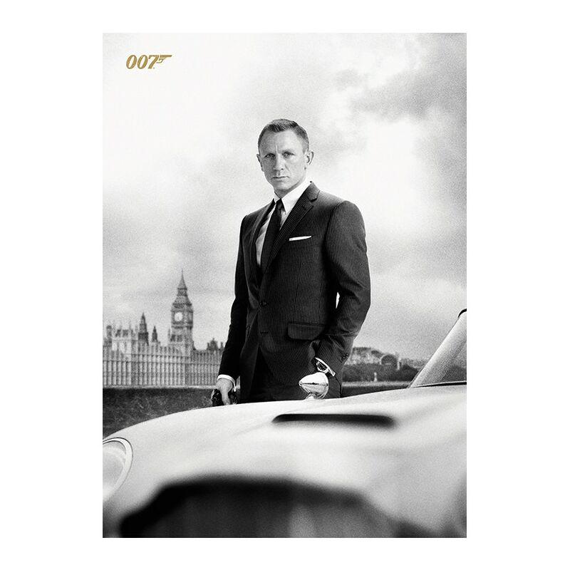Image of Bond & DB5 Skyfall Postcard (One Size) (Black/White) - James Bond