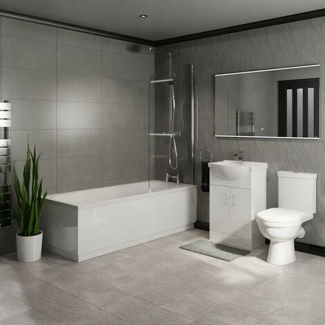 James Straight Shower Bath Suite