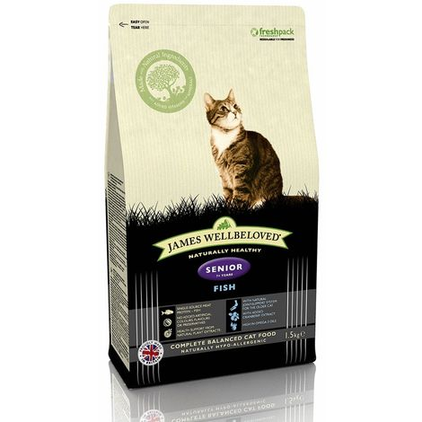 James Wellbeloved Fish Senior Cat Dry Food (1.5kg) (May Vary)