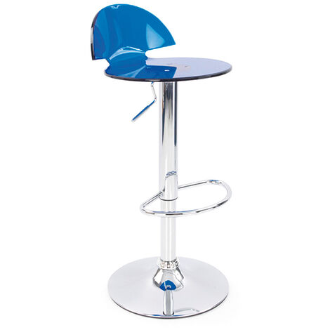Jamie Translucent Acrylic Bar Stool - Blue