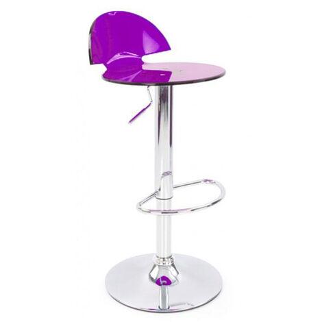 Jamie Translucent Acrylic Bar Stool - Lilac