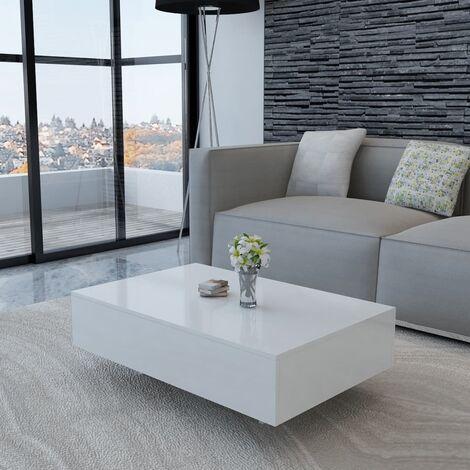 Jamila High Gloss Coffee Table by Brayden Studio - White