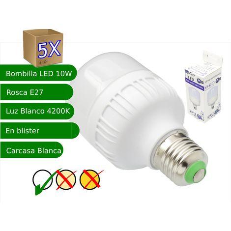 jandei 5x Bombillas LED 10W rosca E27 luz 4200K blanco neutro