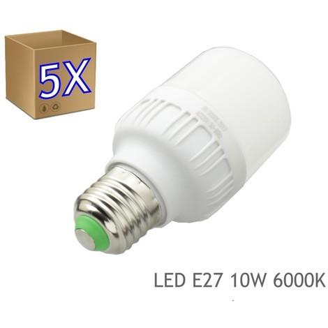 jandei 5x Bombillas LED 10W rosca E27 luz 6000K blanca fria