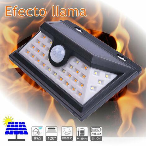 jandei Aplique solar LED efecto llama batería li-ion