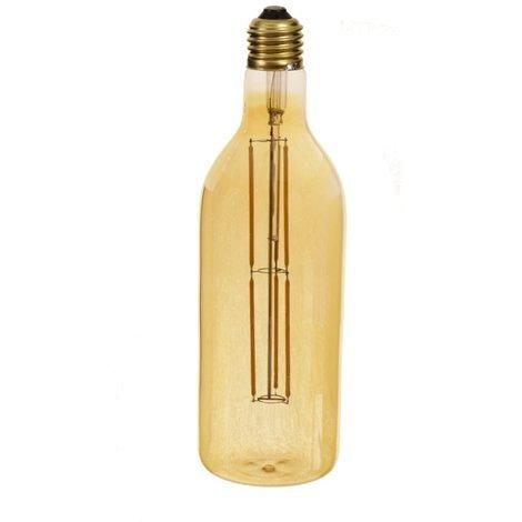 jandei Bombilla filamento led 8W botella dorada E27 blanco 2700K
