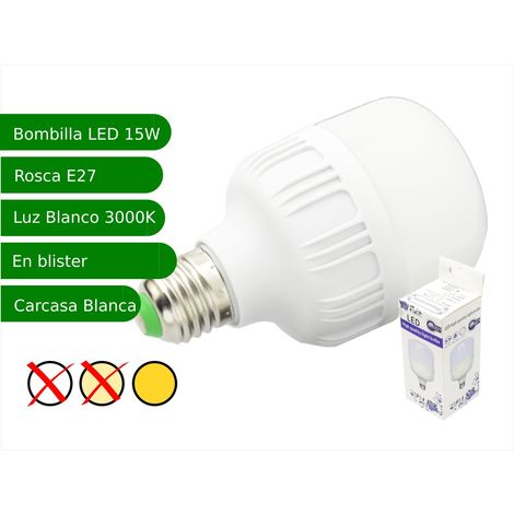 jandei Bombilla LED 15W rosca E27 luz 3000K blanca cálida