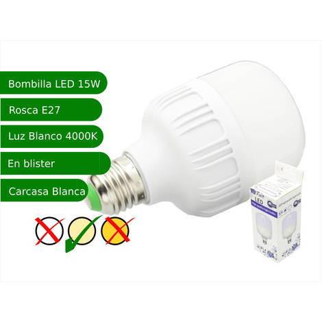 jandei Bombilla LED 15W rosca E27 luz 4000ºK blanca natural