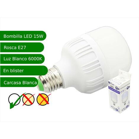 jandei Bombilla LED 15W rosca E27 luz 6000ºK blanco frio