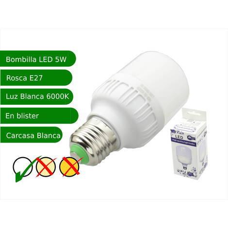 jandei Bombilla LED 5W rosca E27 luz 6000ºK blanca fría
