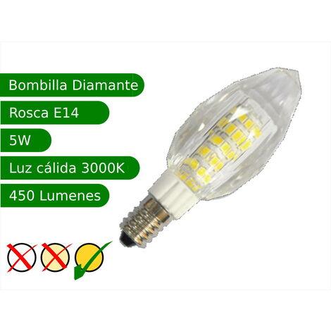 jandei Bombilla LED E14 5W diamante blanco 3000ºK cálido Blister