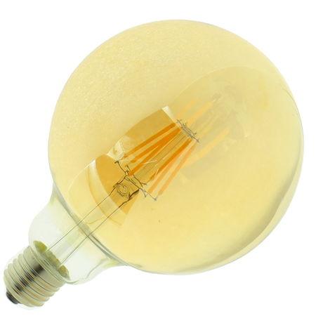 jandei Bombilla led G125 Filamento 6W E27 blanca 2700K dorada