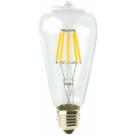 jandei Bombilla led ST64 Filamento 6W E27 blanca 2700K
