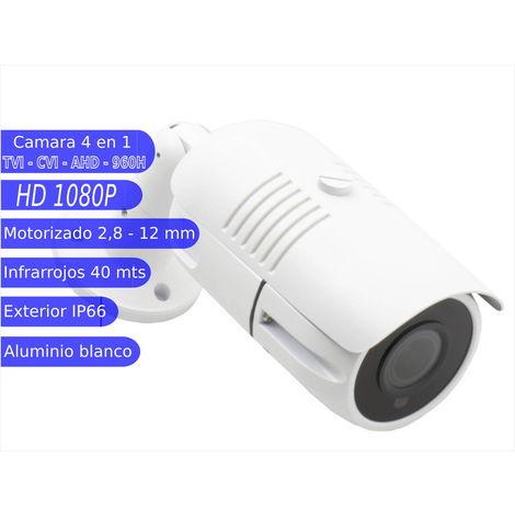 jandei Camara Bullet 4 en 1 1080P exterior 2,8-12mm lente motorizada IR OSD blanca