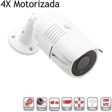 jandei Camara Bullet 4 en 1 1080P exterior 2,8-12mm motorizada IR OSD blanca