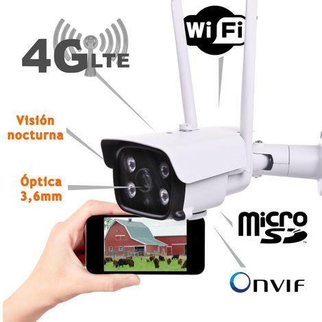 jandei Camara IP 3G 4G Exterior Tarjeta SD WiFi Hotspot ONVIF