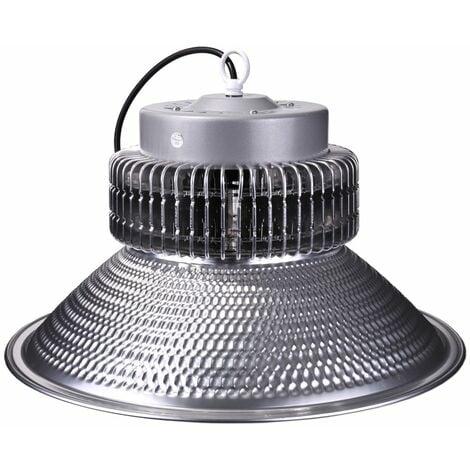 jandei Campana LED suspendida 100W 10500 lúmenes (=300W) luz blanca 6000K Interior IP20 para taller, almacén...