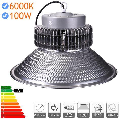 jandei Campana LED suspendida 100W 150W 200W luz blanca 6000K Interior IP20 para taller, almacén…