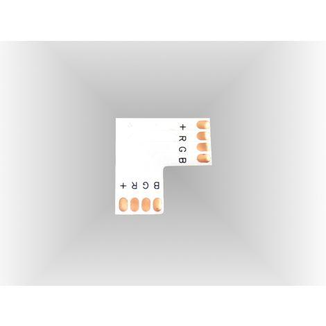 jandei Conector RGB en L 90º 10mm para tira led Pack 10 ud