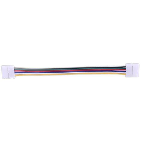 jandei Conector tira led RGBW WW 17cm 6 hilos presión