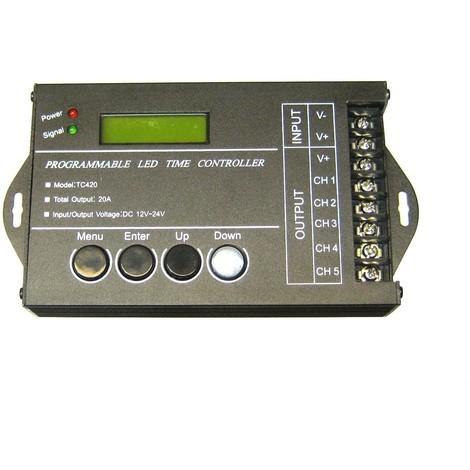 jandei Controlador tira led programable 12/24V 5canal 4A