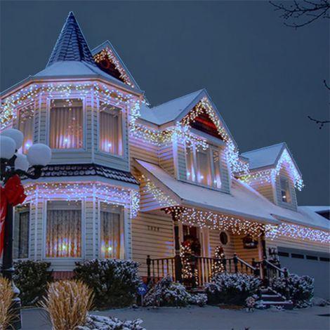 jandei Cortina luminosa ICICLE 3m largo x 0,5m alto BLANCO FRIO 6000K 114 leds 220-240V para decoración navideña, fiesta, eventos