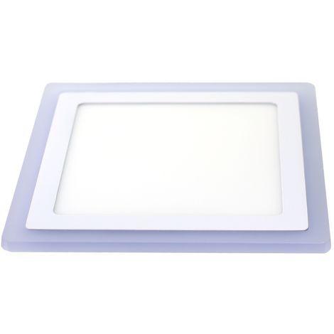 jandei Downlight cuadrado empotrar dos colores blanco 6000ºK y azul. 18W + 6W