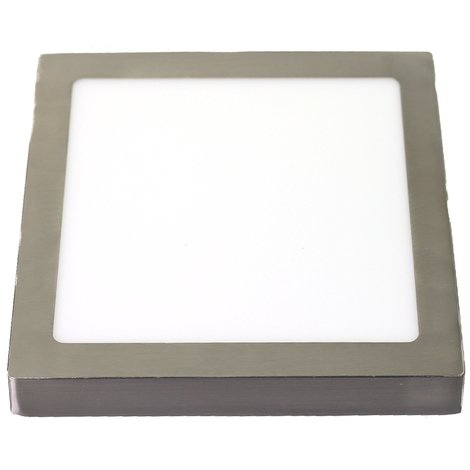 jandei Downlight led 18W 6000ºK cuadrado superficie acabado acero