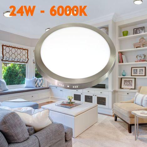 jandei Downlight led 24W 6000ºK redondo superficie acabado acero