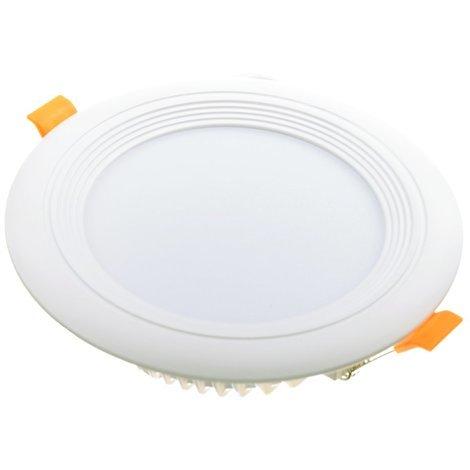 jandei Downlight LED OCEANO redondo empotrar, 12W 1080 lúmenes (= bombilla 90W) PF0,95, luz blanca frio 6000K para salón, cocina, tienda, negocio, oficina