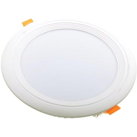 jandei Downlight LED OCEANO redondo empotrar, 18W 1620 lúmenes (= bombilla 135W) PF0,95, luz blanca calido 3000K para salón, cocina, tienda, negocio, oficina
