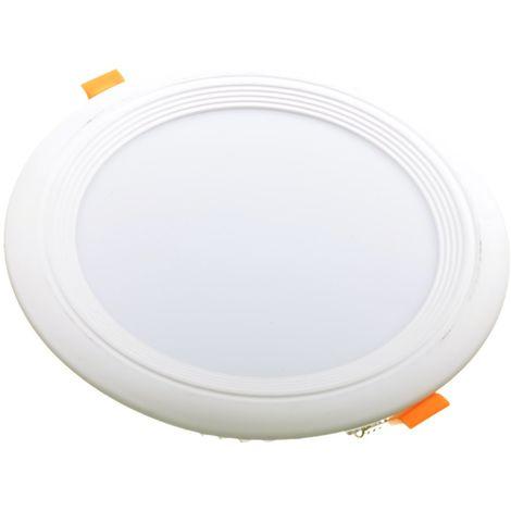 jandei Downlight LED OCEANO redondo empotrar, 18W 1620 lúmenes (= bombilla 135W) PF0,95, luz blanca natural 4200K para salón, cocina, tienda, negocio, oficina