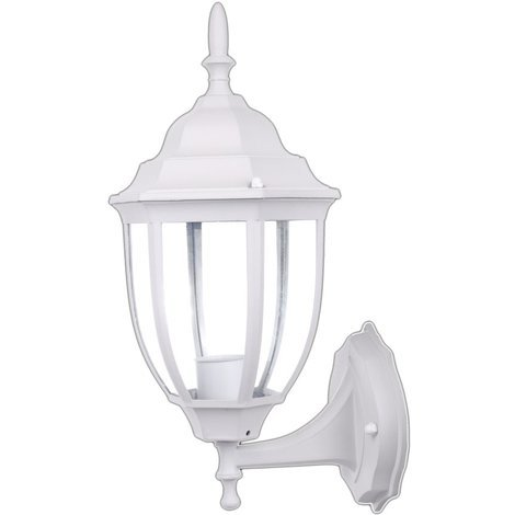 jandei Farol De Pared MICENAS Exterior Blanco Aluminio E27 Color Blanco