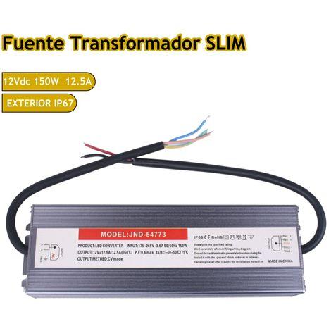 jandei Fuente trafo 220V-12V 12,5A 150W IP67 Slim