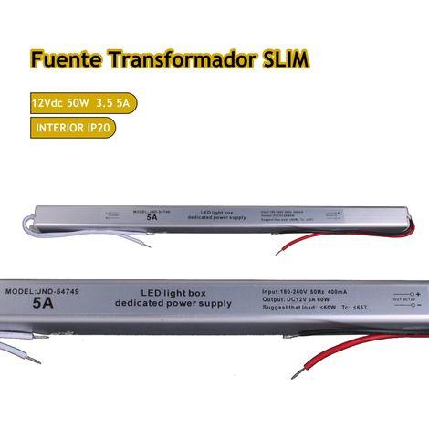 jandei Fuente trafo 220V-12V 5A 60W IP20 Slim