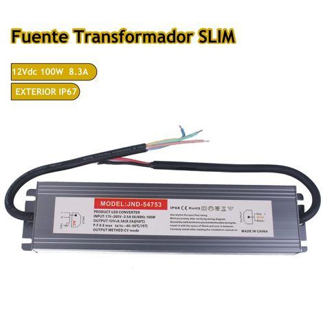 jandei Fuente trafo 220V-12V 8,33A 100W IP67 Slim