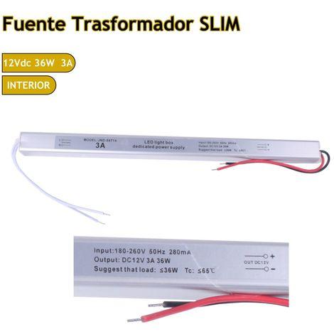 jandei Fuente trasformador 220V-12V 3A 36W IP20 Slim