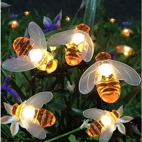 Jandei Guirnalda led de 20 abejas con panel solar exterior 4M