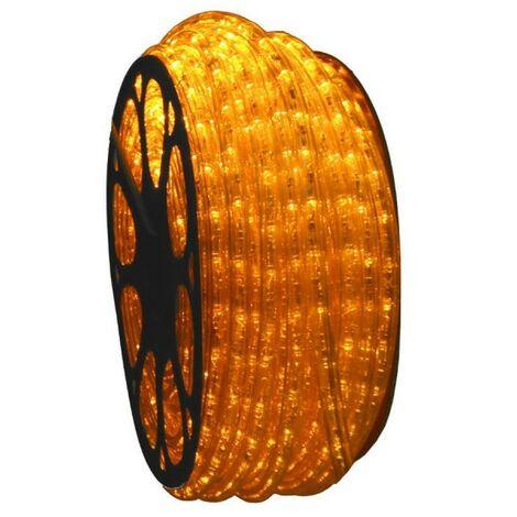 jandei Hilo luminoso LED para decoración de color amarillo, bobina 50m, instalación exterior, estanco IP65, 220-240V con rectificador, corte 0,5m, navidad, fiesta, evento