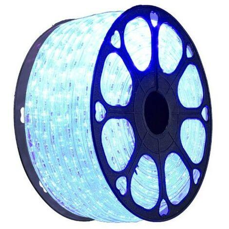 jandei Hilo luminoso LED para decoración de color azul, bobina 50m, instalación exterior, estanco IP65, 220-240V con rectificador, corte 0,5m, navidad, fiesta, evento