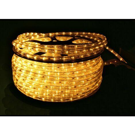 jandei Hilo luminoso LED para decoración de color blanco cálido, bobina 50m, instalación exterior, estanco IP65, 220-240V con rectificador, corte 0,5m, navidad, fiesta, evento