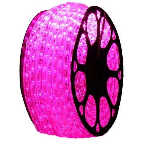 jandei Hilo luminoso LED para decoración de color fucsia - magenta, bobina 50m, instalación exterior, estanco IP65, 220-240V con rectificador, corte 0,5m, navidad, fiesta, evento