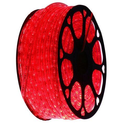 jandei Hilo luminoso LED para decoración de color rojo, bobina 50m, instalación exterior, estanco IP65, 220-240V con rectificador, corte 0,5m, navidad, fiesta, evento