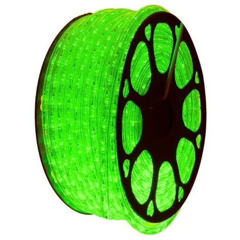 jandei Hilo luminoso LED para decoración de color verde, bobina 50m, instalación exterior, estanco IP65, 220-240V con rectificador, corte 0,5m, navidad, fiesta, evento
