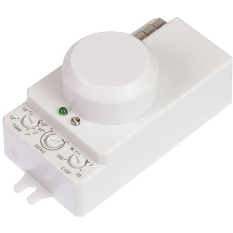 jandei Interruptor por detección de movimiento micro ondas, sensibilidad y luminosidad regulable 300W led, 1200W incandescente